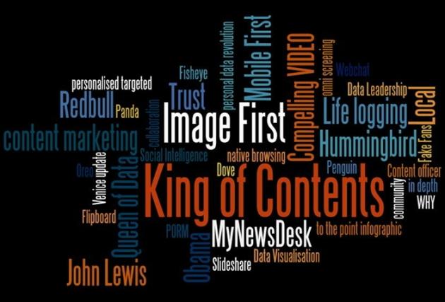 지난 11월 말, 영국 런던 '2013 디지털 마케팅 쇼'에서 다룬 주요 키워드. 출처 : 슬라이드셰어
