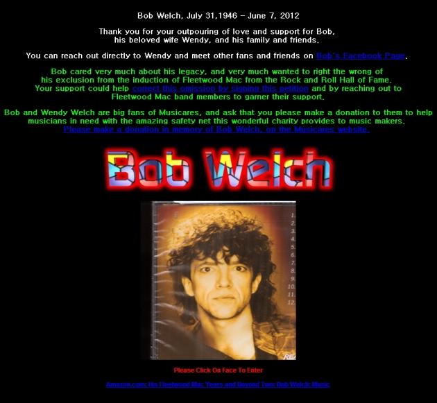 Bob Welch의 공식 사이트
