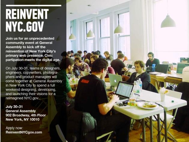 Hackathon, Reinvent NYC.gov
